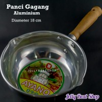 Panci Gagang Kayu Aluminium Diameter 18cm 18 cm