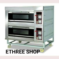 PRIMAX GAS OVEN 2 DECK 4 TRAY/PCH 10302/STAINLESS STEEL/MURAH