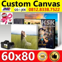 Cetak Foto Photo kanvas Canvas spanram Printing Frameless canvas 60x80