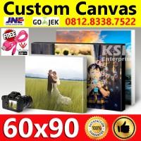 Cetak kanvas Canvas spanram / Canvas Printing / Frameless canvas 60x90