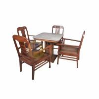 Set Kursi dan Meja Kanjengan Antik Kayu Jati dan Marmer