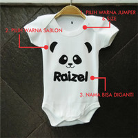 Jual Custom Jumper Bayi Panda Name Murah