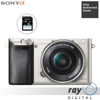 Sony Alpha A6000 Kit 16-50mm Silver Free Sdhc 8gb