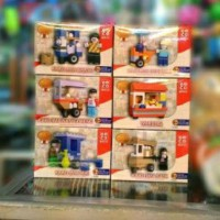 Lego Emco Warung, Kaki Lima Bakso, Mie Ayam, Sate, Nasi Goreng Minuman
