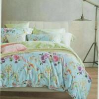 Bed Cover Set Katun Jepang Cantik, 120x200, Bedcover Sprei Bunga KJY1