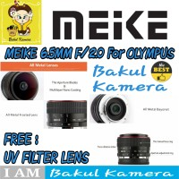 Lensa Meike 6.5mm Ultra Wide f2.0 Fisheye Lens for OLYMPUS