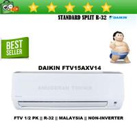 AC SPLIT DAIKIN 1/2 PK 1/2PK R32 MALAYSIA NON INVERTER - FTV15AXV14