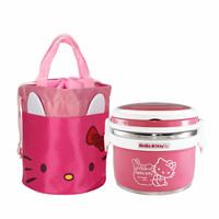 Lynx Tempat Makan Stainless Lunch Box Hello Kitty Dan Tas Bekal 1 Set