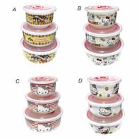 Lynx Mug Gelas Mangkok Wadah Tempat Keramik Hello Kitty Set