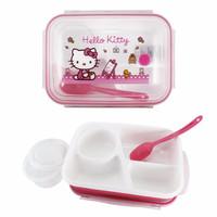 Lynx Kotak Makan Tempat Bekal Rantang Lunch Box Hello Kitty 4 Sekat