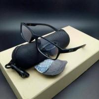 kacamata frame OAKLEY bucket lensa anti radiasi ( hitam doff )