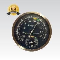 Thermometer Hygrometer Analog Stainles ( Top Quality ) Alat Pengukur
