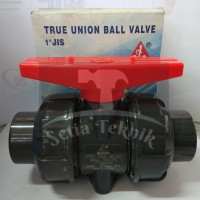 "Stop Kran / Ball Valve PVC True Union Sanking 1"""