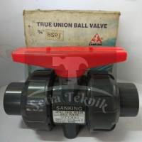 "Stop Kran / Ball Valve PVC True Union Sanking 3/4"""