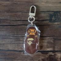 A Bathing Ape Bape Baby Milo Head Metal Keychain Keyring Pendant