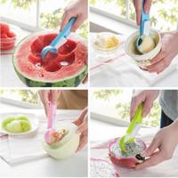 Sendok Scoop Ice Cream BUah Es krim Scooper Plastik Souvenir Kulkas OK