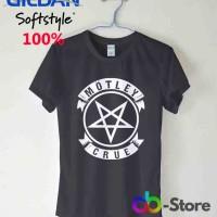 T Shirt | Kaos Gildan Motley Crue Pentagram Logo
