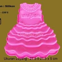 Cetakan Kue / Puding Gown