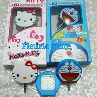 Jual Lampu Flashlight Selfie Karakter LED Hellokitty Doraemon Lucu Murah Su Murah