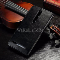 LARIS Wallet Case Leather Case Asus Zenfone 2 5.5 inch KEREN