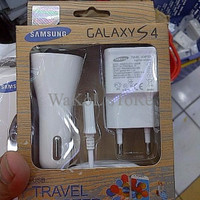 TERBAGUS travel charger, mobil car charger + kabel data samsung micro