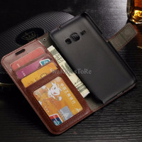 ELEGAN Samsung J7 (2016) Leather Flip Wallet Case Cover KEREN