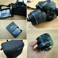 NIKON D5300 + AF-S 18-55mm VR II KIT LENS + AF-S 50mm F / 1.8G