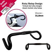 Handlebar Ruta atau Stang Sepeda Balap Zoom Oversize