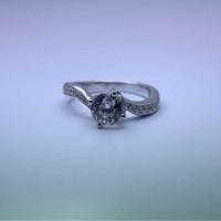 cincin nikah desain model solitaire bahan emas putih12k