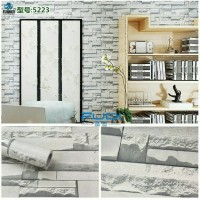 5223 WALLPAPER STICKER DINDING MURAH, BATU 3D, BATU ALAM