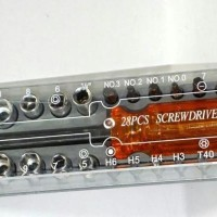 Obeng Kunci Sock Screwdriver 28 Bit Set