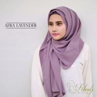 PREMIUM QUALITY Pashmina Instant Afra Lavender Jilbab Khadj TERBATAS!