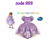 Jual Dress sofia the first premium costume / gaun anak baju pesta Sofia Murah