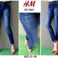 Celana Jeans Wanita, Jeans Ripped H&M FR 7067, Bigsize (31-34)