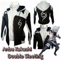 Jual Jaket Anime Anbu Double Zipper Kakasi Naruto Cosplay Murah