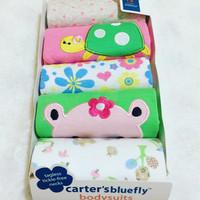 Kaos Bayi Perempuan Merk CARTER / Baju Baby Cewe CARTERS [ isi 5 pcs ]