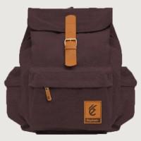 Harga tas backpack ransel gaya gaul keren cokelat denimo lilo | Pembandingharga.com