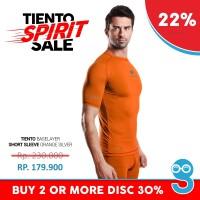 harga Baselayer Rash Guard Compression Tiento Short Sleeve Orange Original Tokopedia.com