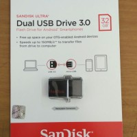 SanDisk Ultra Dual USB Drive 3.0 32GB Flashdisk OTG - 32 GB Flash Disk