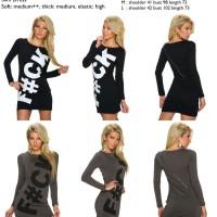 Dress mini bodycon hitam, abu abu,tumblr katun import murah cina,korea