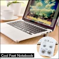 Karet Bantalan Kaki Penyanggah Laptop - Cool Feet Notebook (4 BIJI)