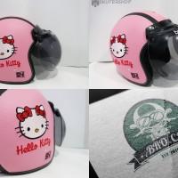 Jual Helm Bogo Bro.co Retro Kulit Klasik Motif Hello Kitty Full Bordir Murah