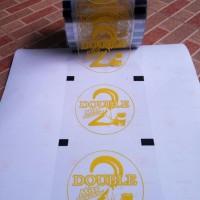 Lid Cup Sealer Sablon Custom / Desain Custom [1 rol] - Grosir Plastik