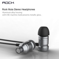 ROCK Mula Stereo Earphone Headset In Ear Earbuds With Microphone ORI