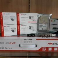 Paket CCTV HIKvision 1.3 MP komplit bisa live view HP android | 4 ch