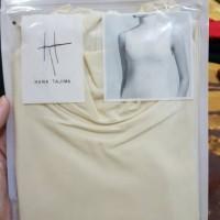 AIRism T-shirt high neck tanpa lengan XL cream