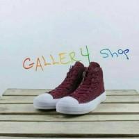 Sepatu Converse Chuck Tailor CT Hi Maron Kets Formal Kuliah santai