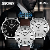 Jam tangan kulit SKMEI COUPLE 9092CL Leather Strap