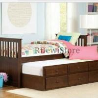 Tempat tidur anak, divan, dipan, ranjang, minimalis sorong kayu jati
