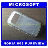 #558 Silikon Case Microsoft Nokia 808 PureView Putih Soft Jelly Cover